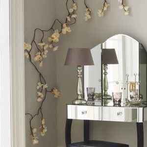 String Lights For Dressing Table : fairy lights Decoracao Pinterest Paint colors, In the corner and Blossoms