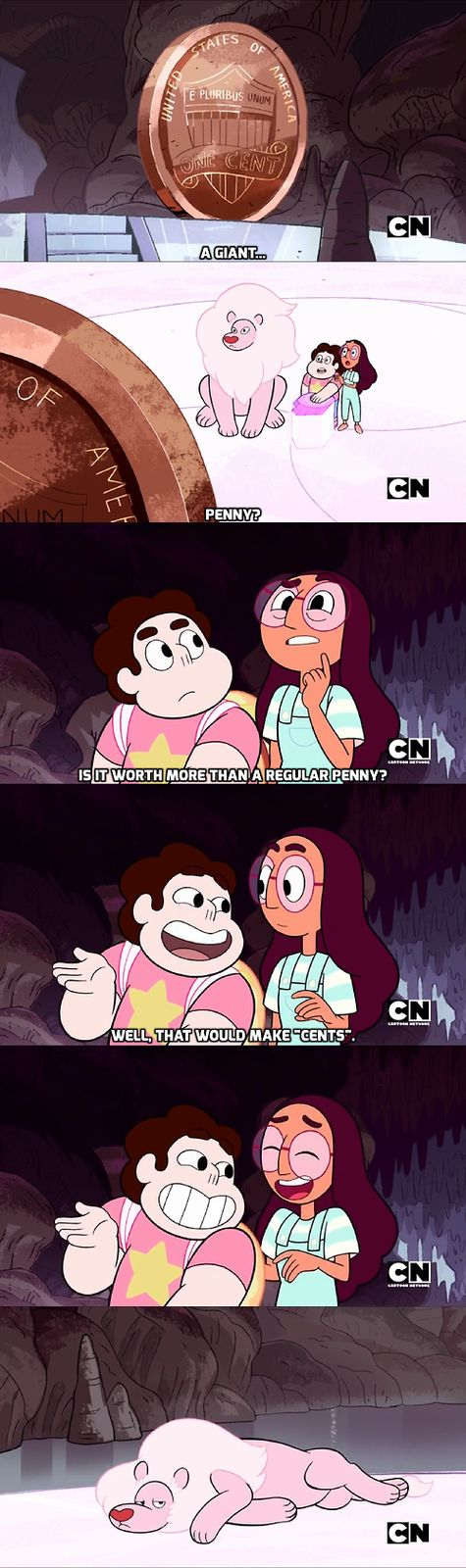 This show, I swear.... | Lion is not impressed. | Steven & Connie | Steven Universe | Cartoon Network