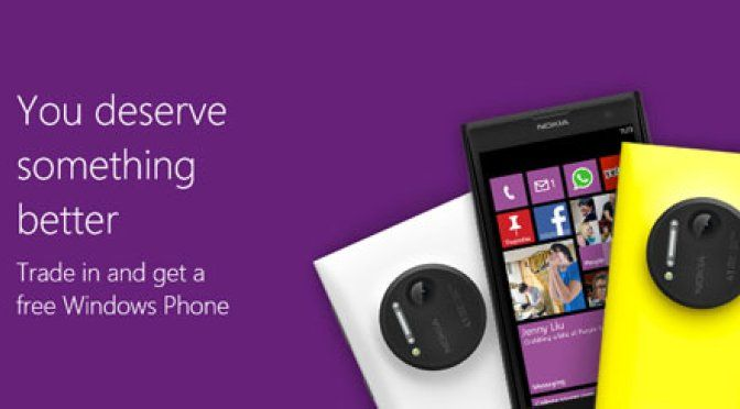 Or $250 Trade-in on new tablet or phone but only if you drive to a Microsoft Store