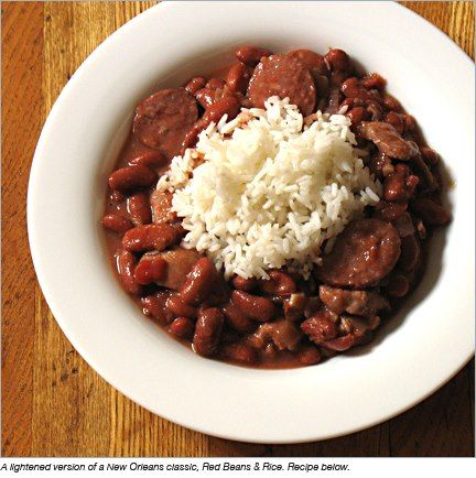 Louisiana Red Beans and Rice Ingredients: 1 pound dry red beans, soaked overnight in salt water 2 tablespoons vegetable or olive oil 2 cups chopped celery 1 1/2 cups chopped onion 1 green pepper,...