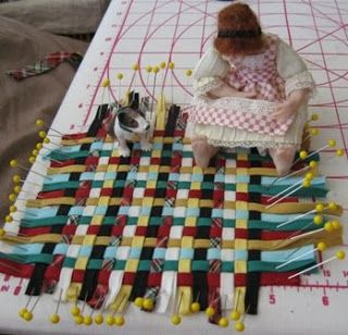 Are you tired of the many ways to make a quilt in miniature yet? I remembered a really old one that I learned when I first started out.  It ...