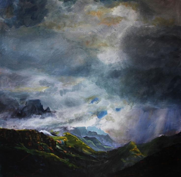 Drakensberg Storm by Peter Croxon