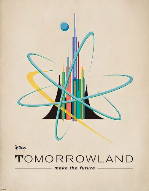 Retro Style Disney 'Tomorrowland' Posters - Check out our podcast https://www.facebook.com/ScreenWolf and https://twitter.com/screen_wolf