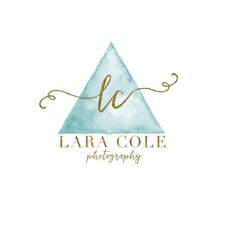 Triangle Watercolor Logo - Premade Photography Logo Watermark Design - Geometric Logo - Photography or Boutique Logo  - Business Branding by TheAutumnRabbit on Etsy