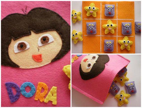 Tic Tac Toe  Dora l'esploratrice gioco di twinsandcrafts su Etsy, $60.00