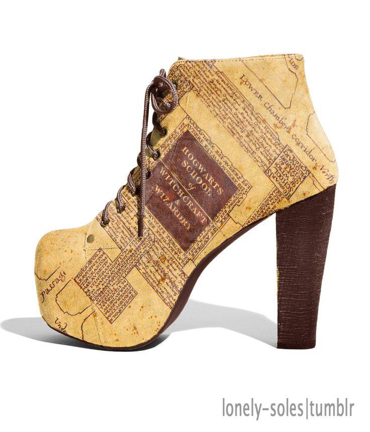 Harry Potter Hogwarts School Map Shoes