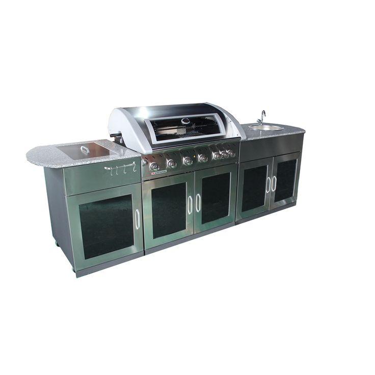 Matador Wels 4 Star 7 5l Min 6 Burner Entertainer Outdoor Kitchen I N 3180366 Bunnings