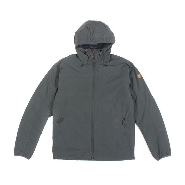 Fjällräven Ash Grey Padded Jacket: This ultra convenient and versatile jacket is perfect for bridging the gap between spring and autumn. An all-year-round winner, this lightweight piece is padded with G-Loft Supreme and has excellent insulating ability, even in damp conditions. Featuring fixed hood, two way front zipper, two zipped pouch pockets, zipped inside pocket, adjustable hem and elasticated cuffs. Jacket comes in a regular fit and is true to size.