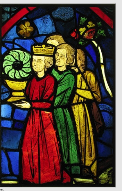 Stained-Glass Panel, ca. 1245–1248 France, Tours, Ambulatory of the Cathedral of Saint-Gatien Pot-metal glass and vitreous paint  http://www.metmuseum.org/toah/works-of-art/37.173.3 (October 2006)