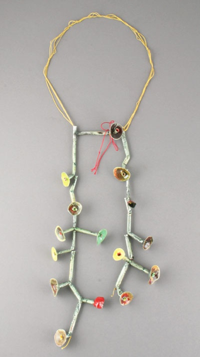 """Click to enlarge image. Venetia Dale """"Blooms on Gold"""" Necklace"""