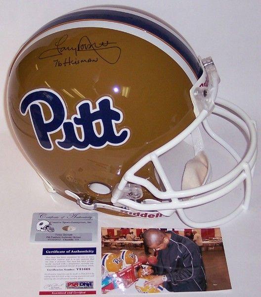 Tony Dorsett Hand Signed Autographed Pitt Panthers Authentic Helmet - PSA/DNA