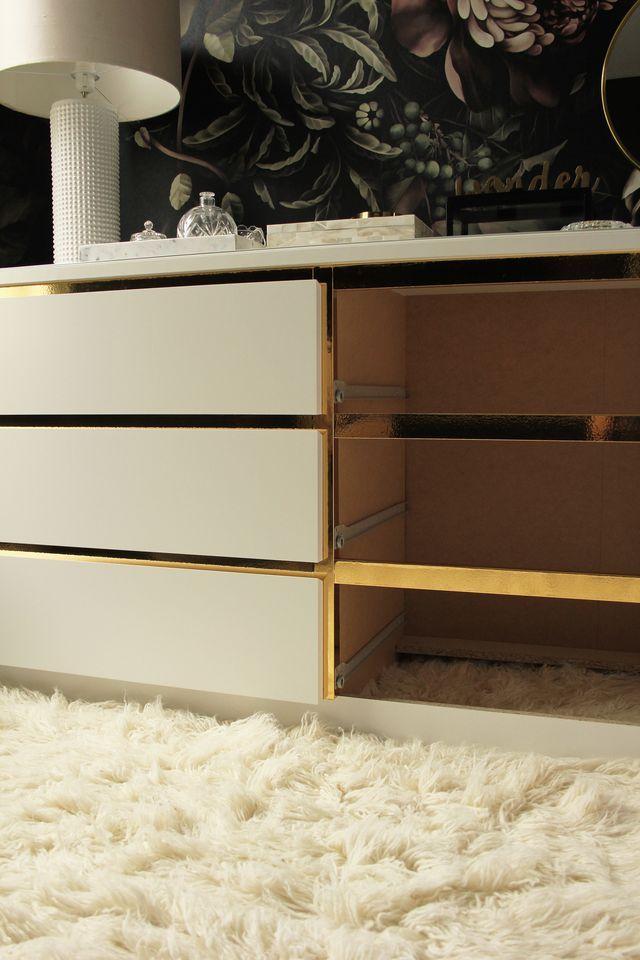 diy vintage style gold dresser preciously me espaces. Black Bedroom Furniture Sets. Home Design Ideas