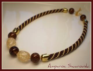 Artesanías Amparoc Swarovski: Gargantilla a Crochet 2