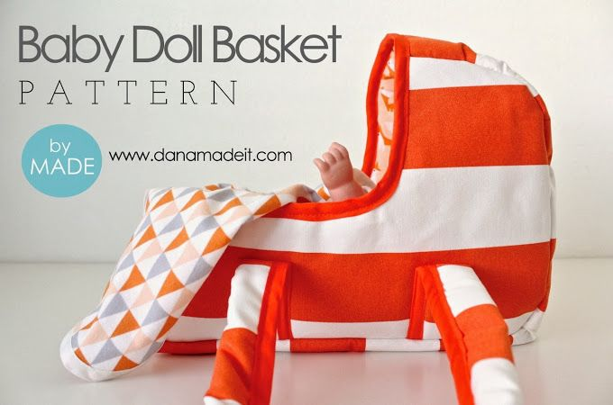 Baby Doll Basket Sewing Pattern - MADE