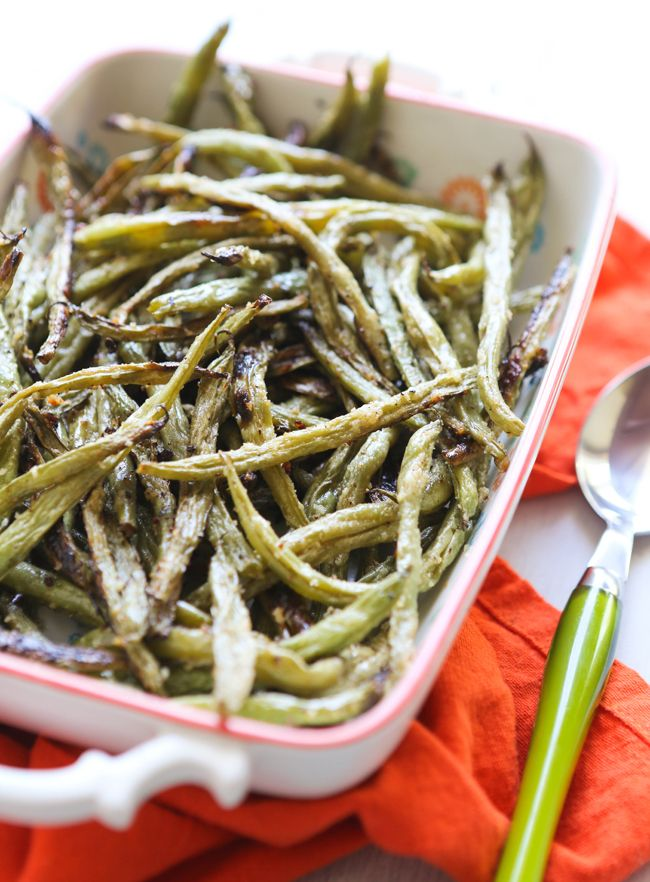 Oven Roasted Parmesan Green Beans Recipe