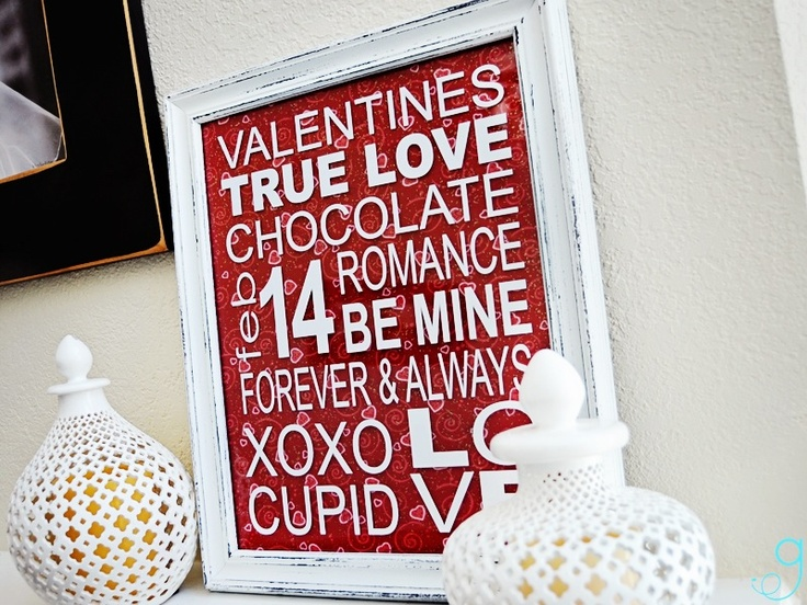 Valentine Vinyl Subway art