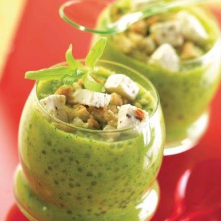 Cold Zucchini Soup: Froid De, Velouté Froid, Idé Cuisine, Soups Froid, La Feta, Soups Chaud Froid, Recett Soups, De Courgett, Perl Japon