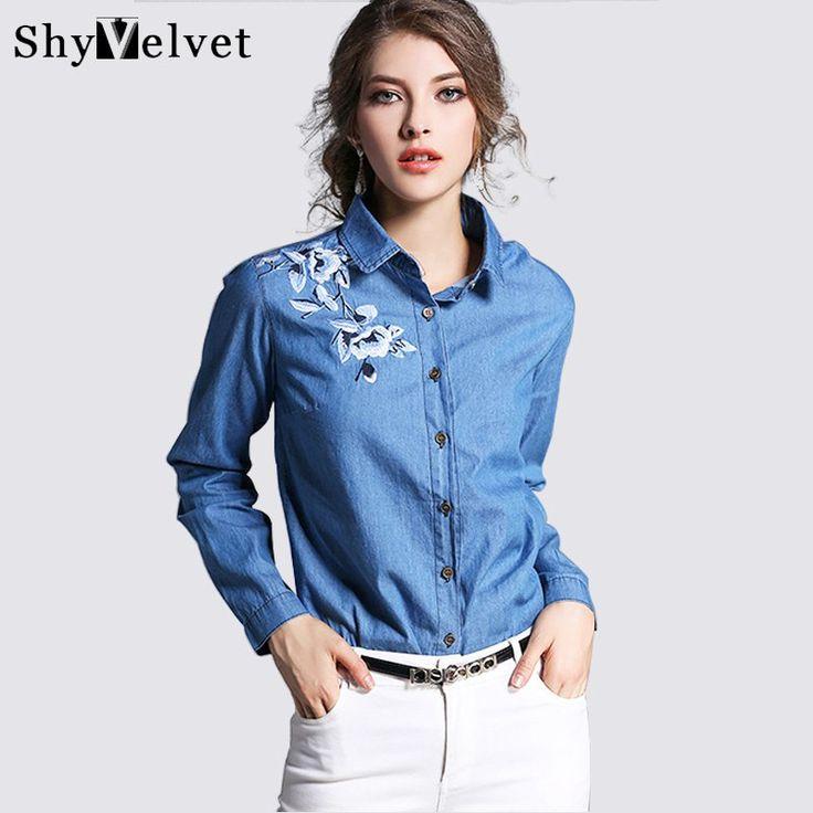 #aliexpress, #fashion, #denim, #shirt, #women, #sleeve, #denim, #blouse, #embroidered, #denim, #shirts, #female, #vintage, #Jeans, #blouse, #casual