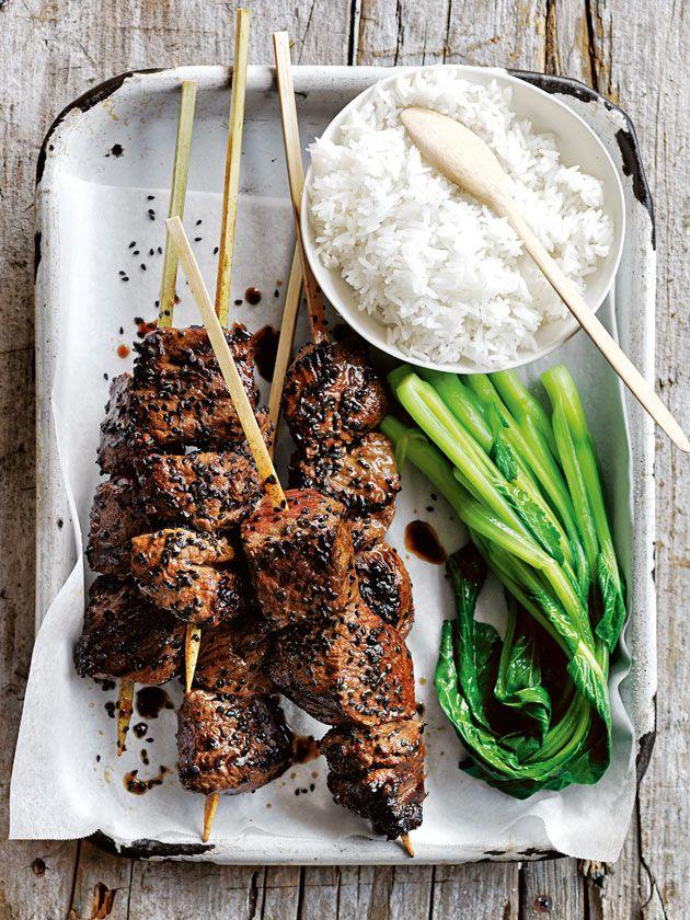 Sriracha Honey And Sesame Beef Skewers | Donna Hay
