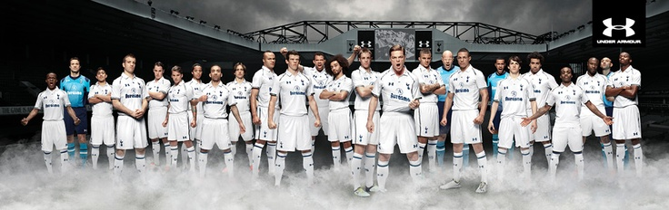 The new Tottenham Hotspur kit for 2012 / 20113 made by Under Armour