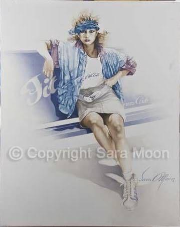 """Fitness"" - Art. Sara Moon 1989."