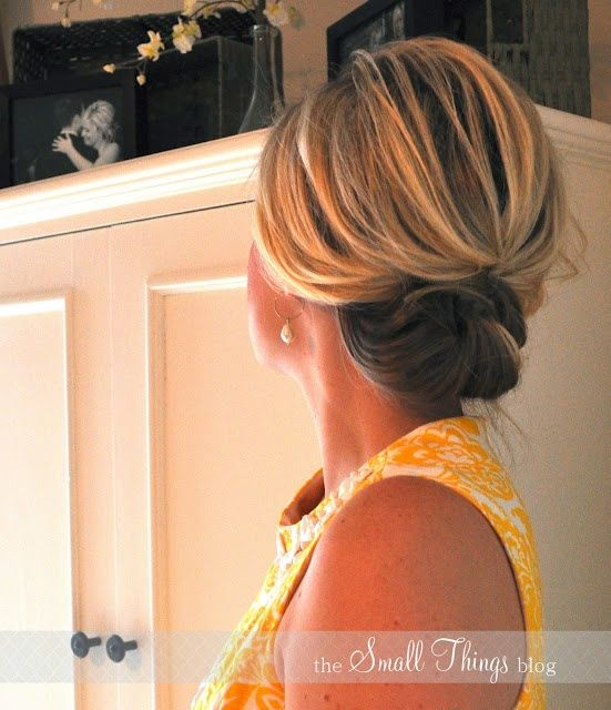 Really easy to do updo for folks with shoulder length hair...I shall attempt this for those humid days!