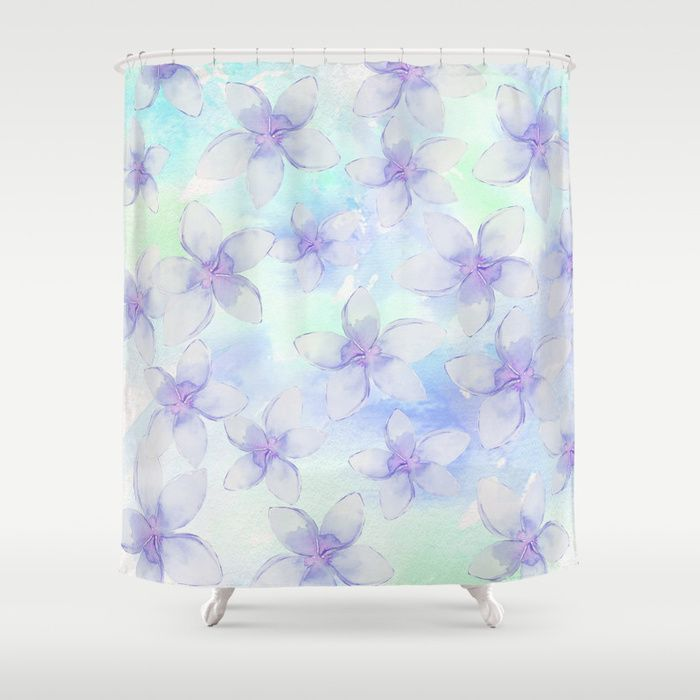 Buy Purple Pastel Flowers Showercurtain By Sylviacookphotography Worldwide Shipping Available A Flower Shower Curtain Pastel Flowers Shower Curtain