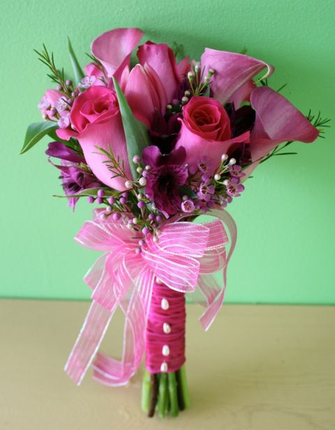 Prom Flowers Hand Tied Clutch Bouquets For Prom A