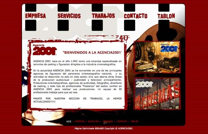 Web Agencia2001 (HTML + Flash)