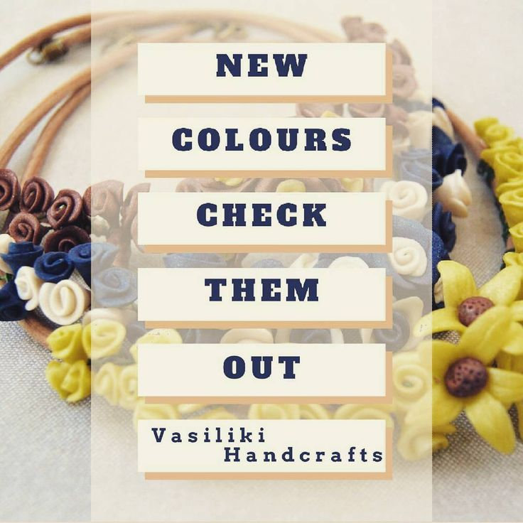 New colours! Click the link on bio #vasilikihandcrafts #flowers #summer #necklace #colours