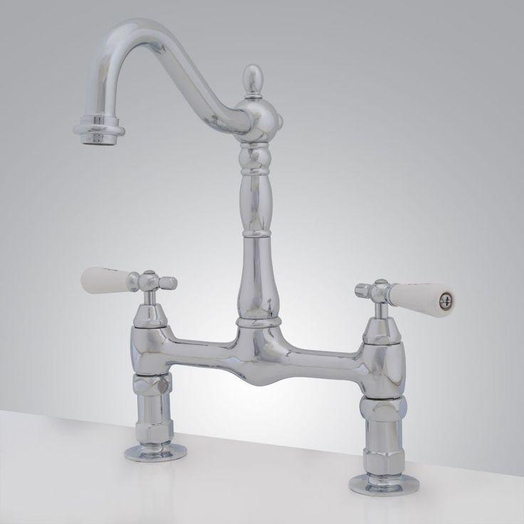 Randolph Morris Bridge Style Bathroom Sink Faucet Porcelain Lever Handles Rub A Dub Dub