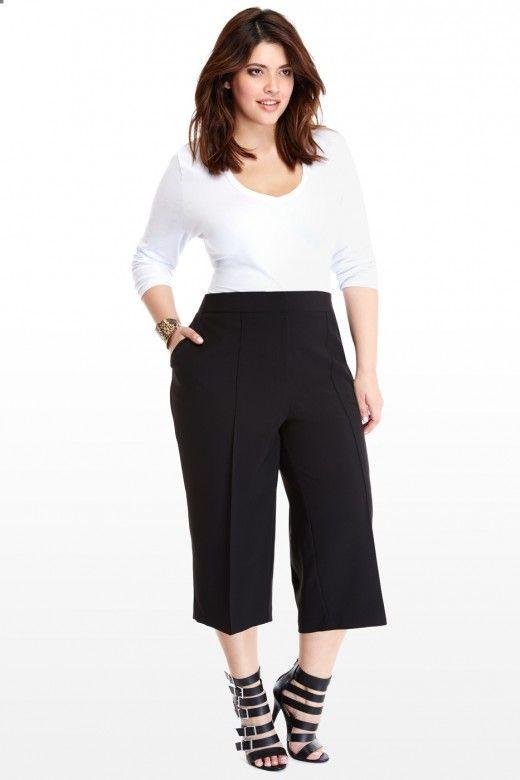Plus Size Culotte Pants | Fashion To Figure | Culottes
