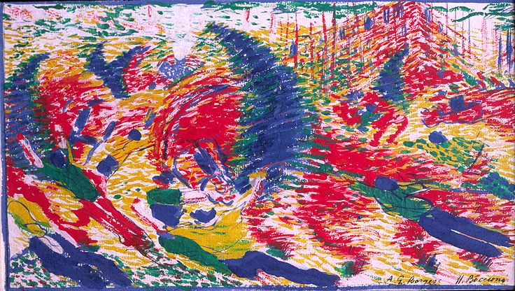 Umberto Boccioni, Study for 'The City Rises,' 1910
