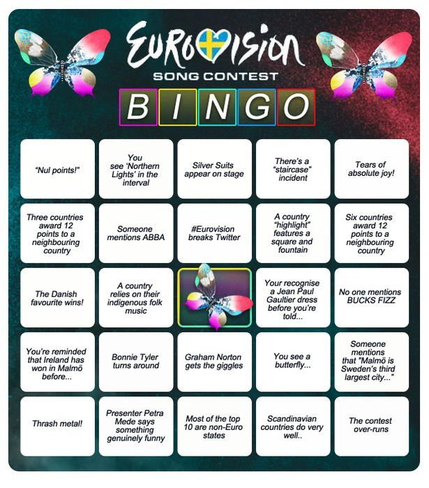 Eurovision-Song-Contest-Bingo