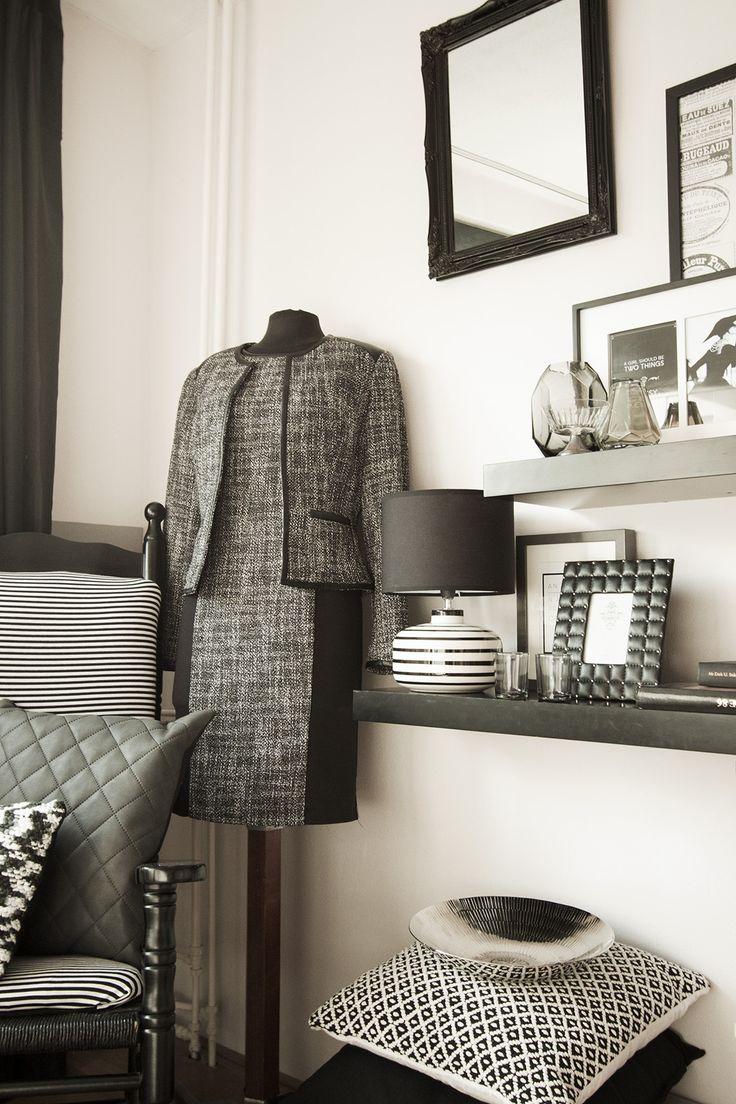 Chanel inspired bedroom for Fashionista!  Meer foto's van de slaapkamer volgen nog!