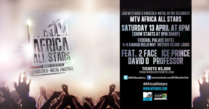 Music authority MTV Base is to set Lagos ablaze with an all star urban club night featuring performances from 2face, Davido and Ice Prince, with a specialguest appearance from South African urban giant, Professor.