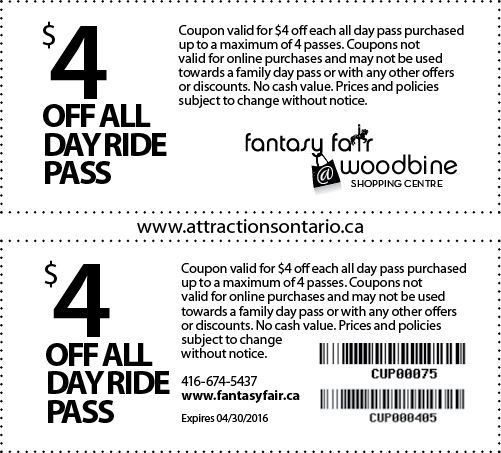 Fantasy Fair Coupons