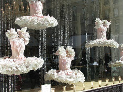 Repetto ballet shop in Paris.  Beautiful pink costumes.