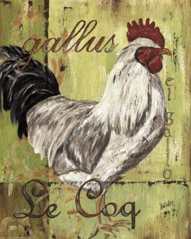 Rooster II Print by Debbie DeWitt at Art.com