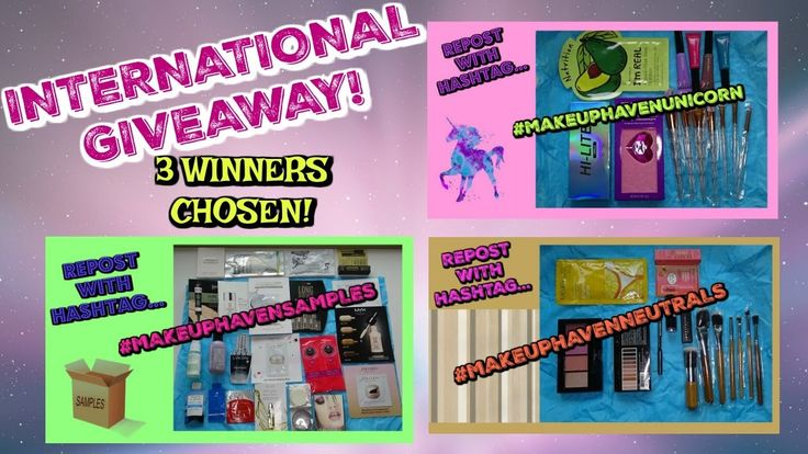 (OPEN) INTERNATIONAL GIVEAWAY! 3 Winners Chosen!
