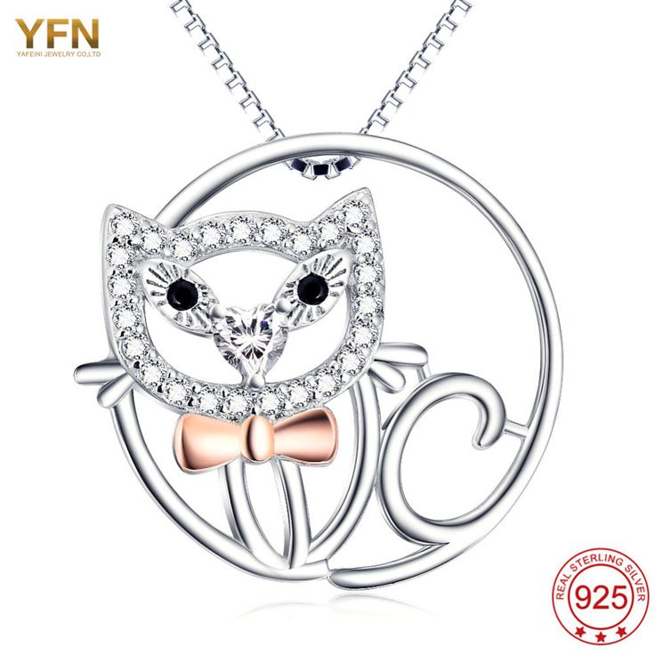 YFN 216 New 925 Sterling Silver Necklace Animal Pendant Necklace Jewelry statement necklace collier ras du cou collier fantaisie