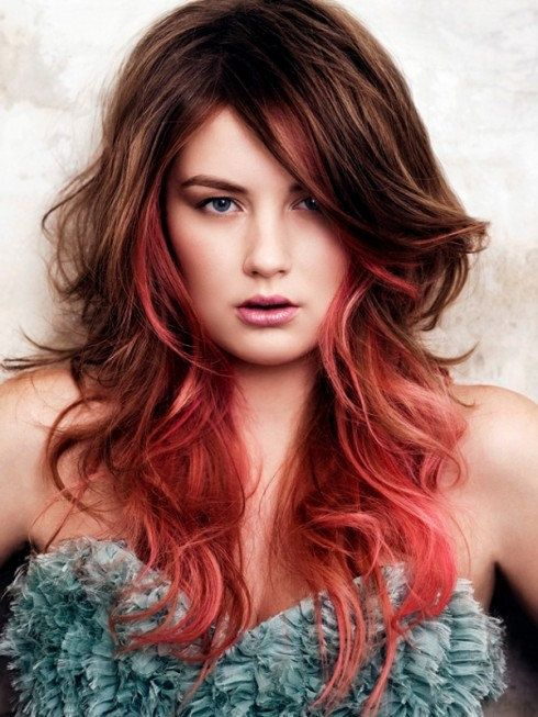 pink and brown ombre by LulusGalaxy