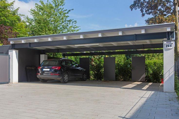 "meincarport.de: Carports ""Bauhaus/Stahl"""