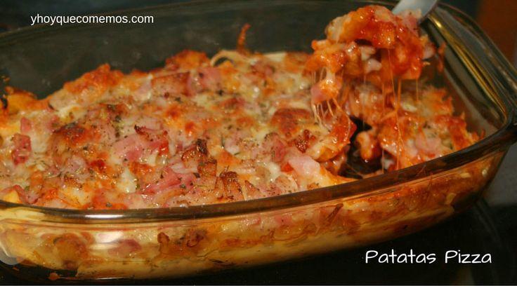 Las Patatas Pizza son un aperitivo muy fácil de preparar que gustará a toda la familia, sobre todo a los más peques. También sirve como guarnición.