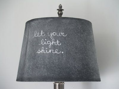 6. Lampshade | 33 Things You Can Turn Into Chalkboards