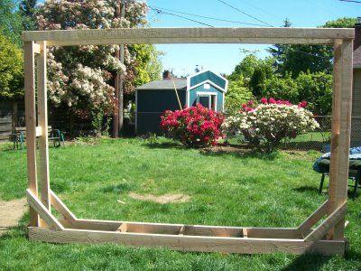 Building a firewood rack