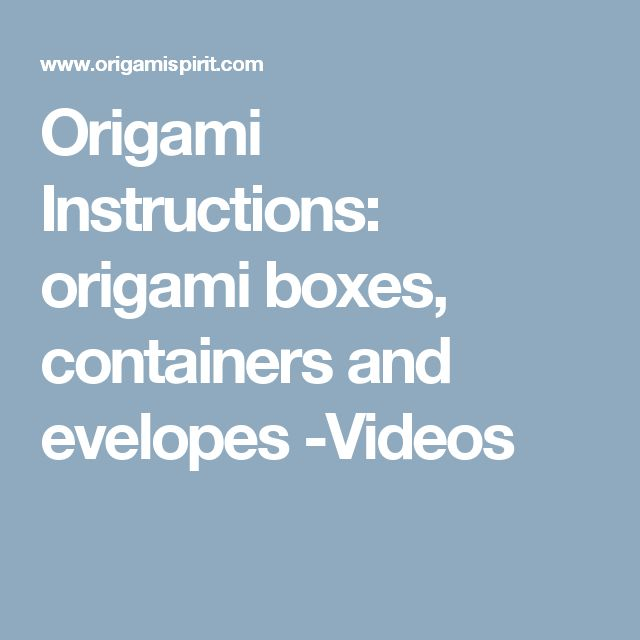 1000 ideas about origami boxes on pinterest origami