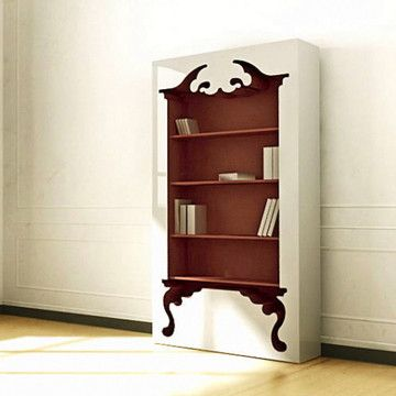 Negative Space Bookcase- could I make this somehow?