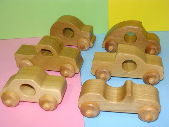 Items similar to SALE - Wooden BABY Toy Cars ( Set of 6 ) on Etsy