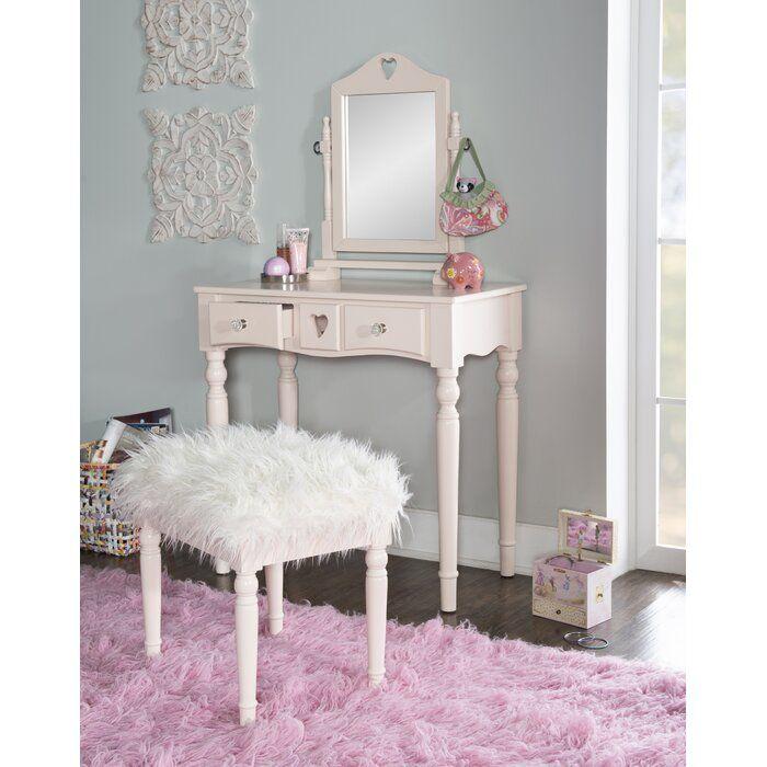 Viv Rae Brierfield Vanity Set With Mirror Reviews Wayfair Vanity Set With Mirror Bedroom Vanity Set Kids Vanity